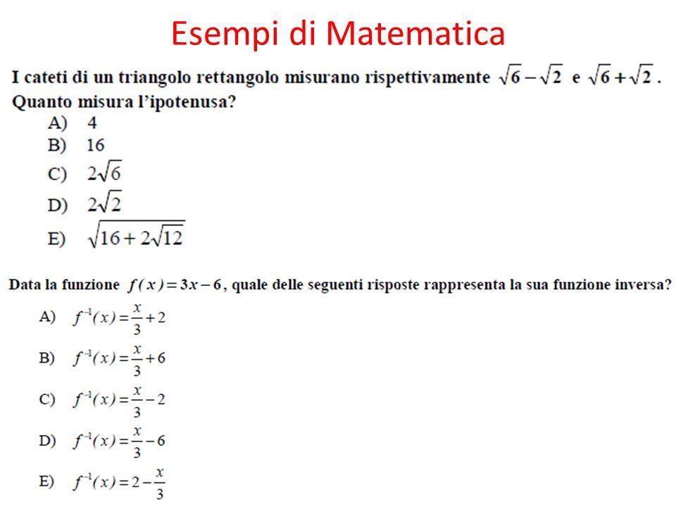 Esempi di Matematica
