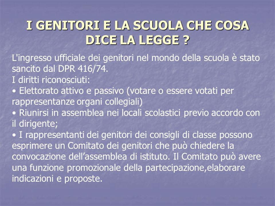 I Genitori nella scuola dellautonomia DPR 275/99 – REGOLAMENTO DELLAUTONOMIA SCOLASTICA ART.