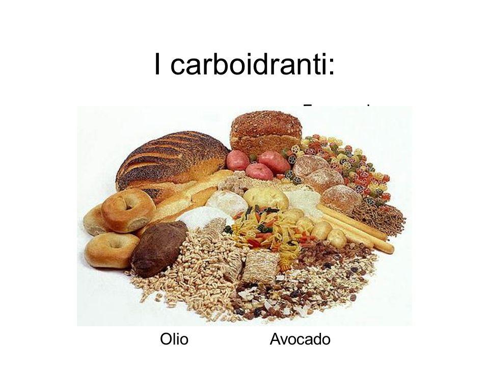 I carboidranti: Uova Noci Avocado Pesce Tofu Olio Formaggi o