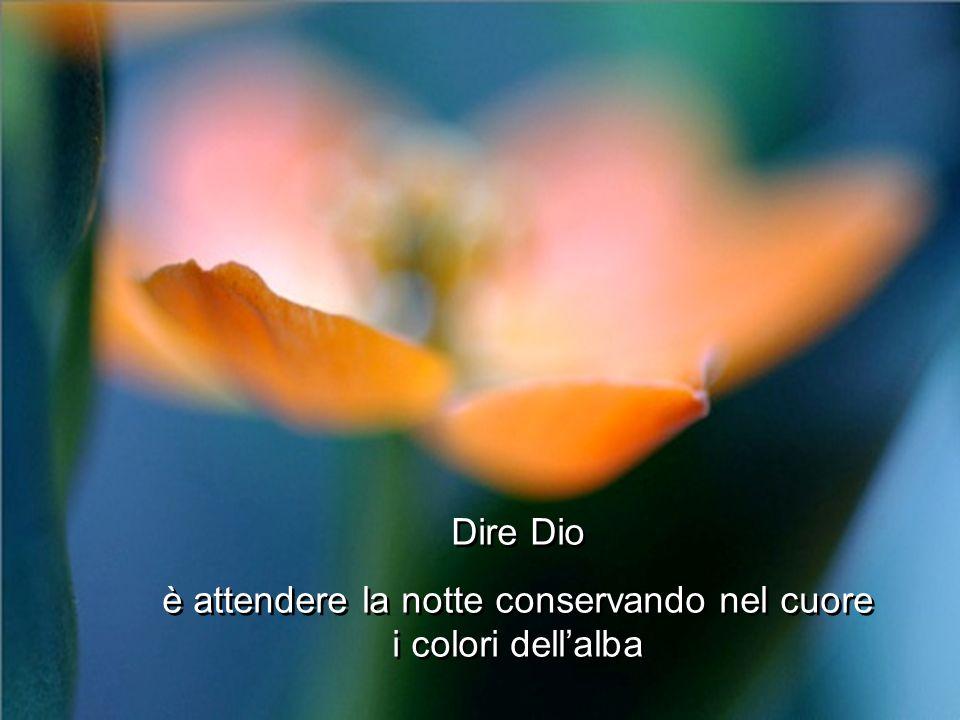 Dire Dio è attendere la notte conservando nel cuore i colori dellalba Dire Dio è attendere la notte conservando nel cuore i colori dellalba