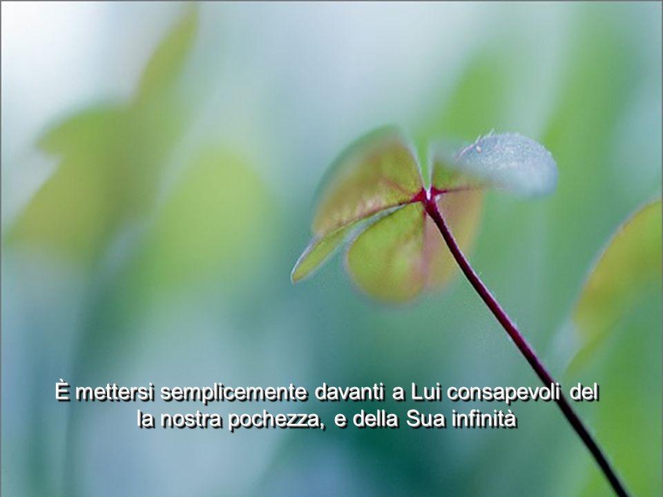 È accettare di dare tutto e vivere serenamente ogni stagione della vita