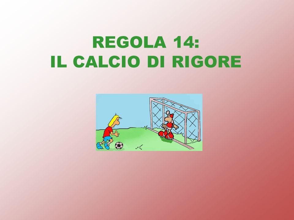 REGOLA 14: IL CALCIO DI RIGORE