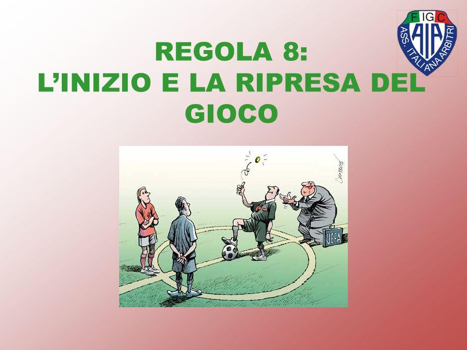 REGOLA 8: LINIZIO E LA RIPRESA DEL GIOCO