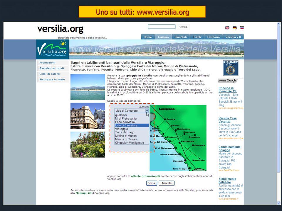 Cosa offre il web (3/3) Siti informativi sui lidi di una specifica area geografica Siti informativi sui lidi di una specifica area geografica www.vers