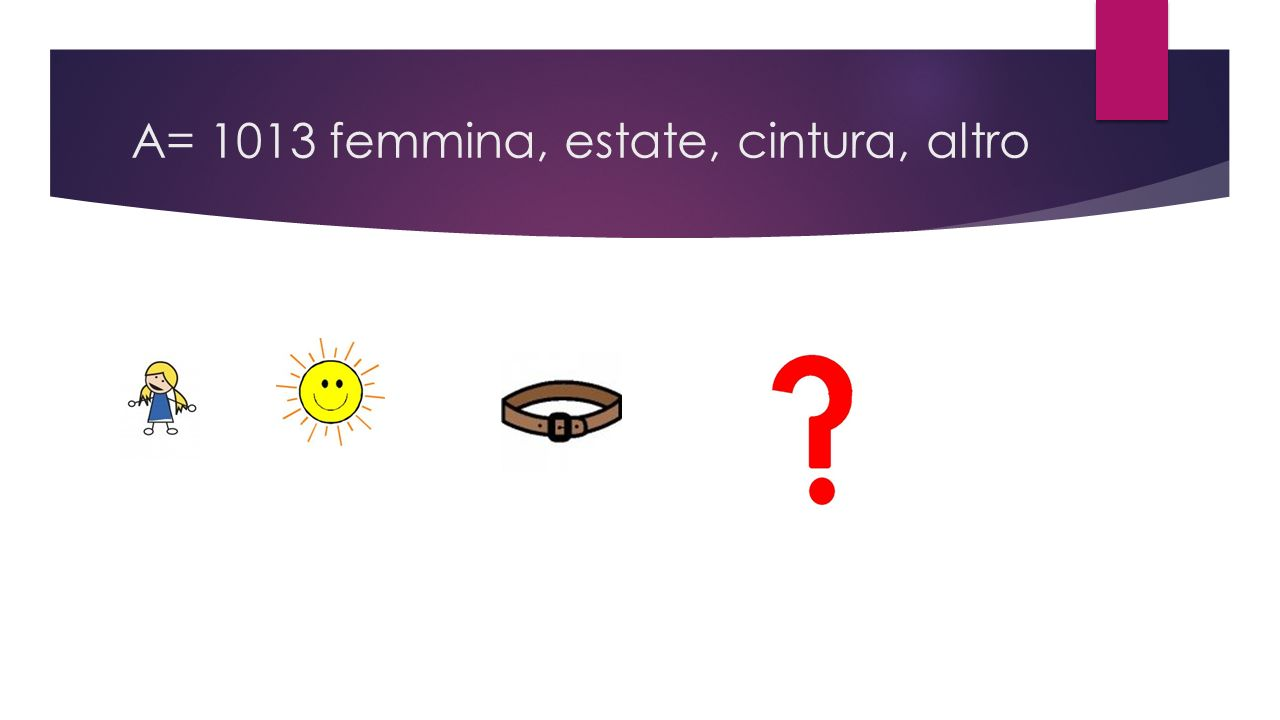A= 1013 femmina, estate, cintura, altro