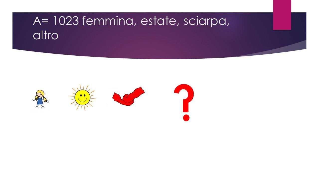 A= 1023 femmina, estate, sciarpa, altro