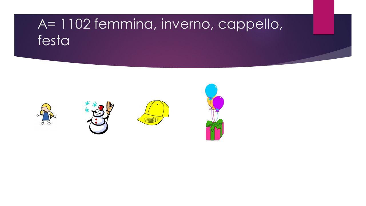A= 1102 femmina, inverno, cappello, festa