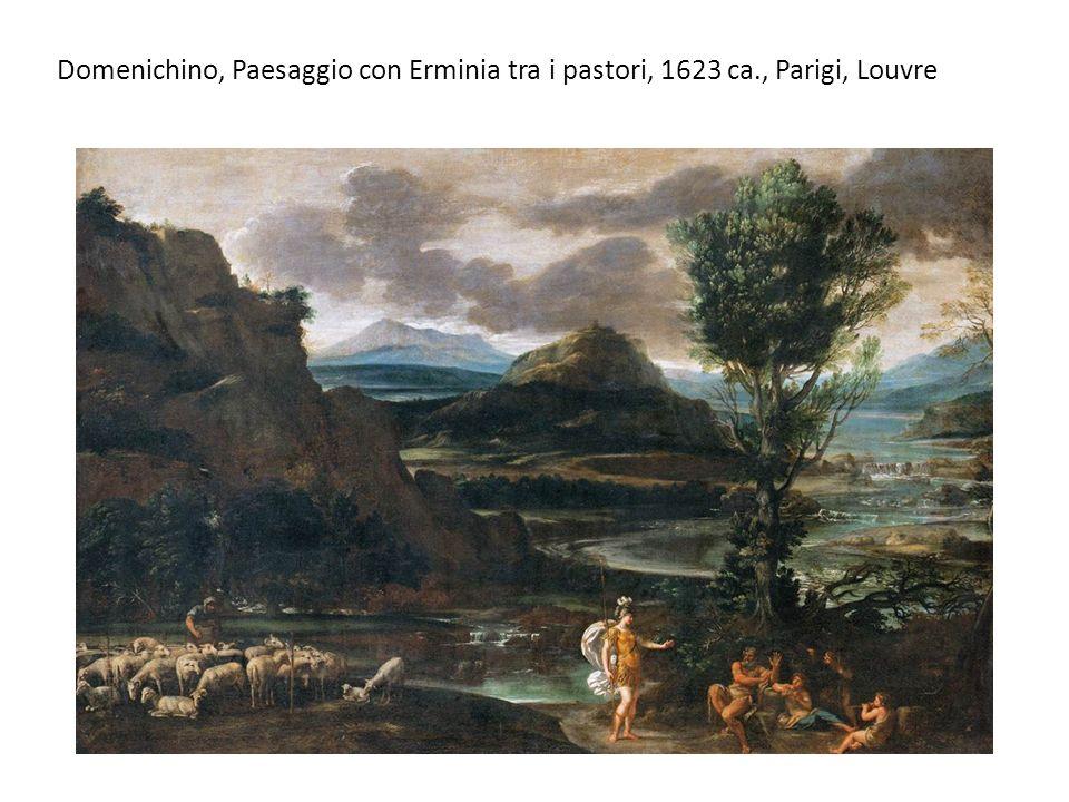 Domenichino, Paesaggio con Erminia tra i pastori, 1623 ca., Parigi, Louvre