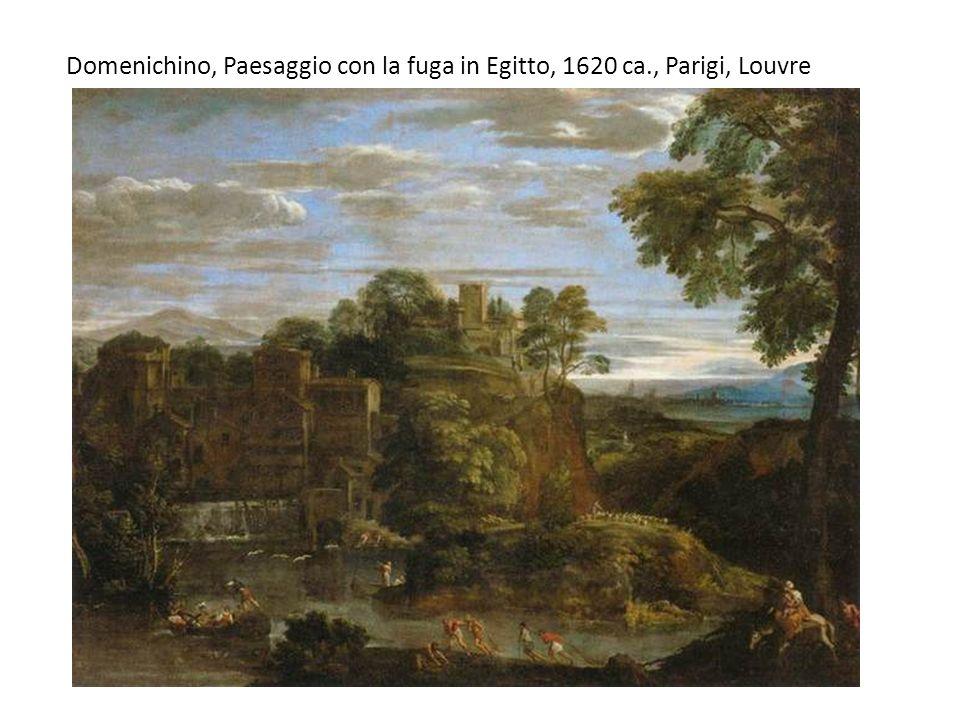 Domenichino, Paesaggio con la fuga in Egitto, 1620 ca., Parigi, Louvre