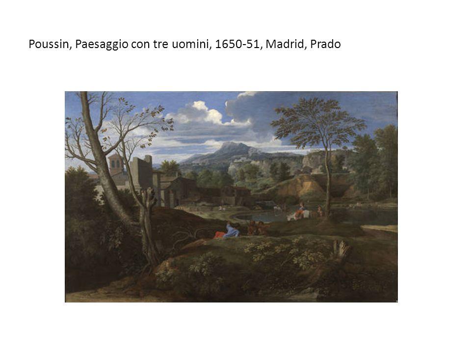 Poussin, Paesaggio con tre uomini, 1650-51, Madrid, Prado