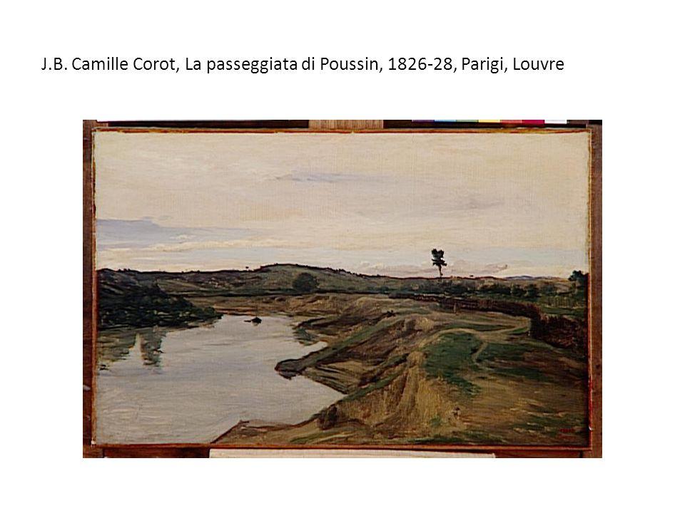 J.B. Camille Corot, La passeggiata di Poussin, 1826-28, Parigi, Louvre