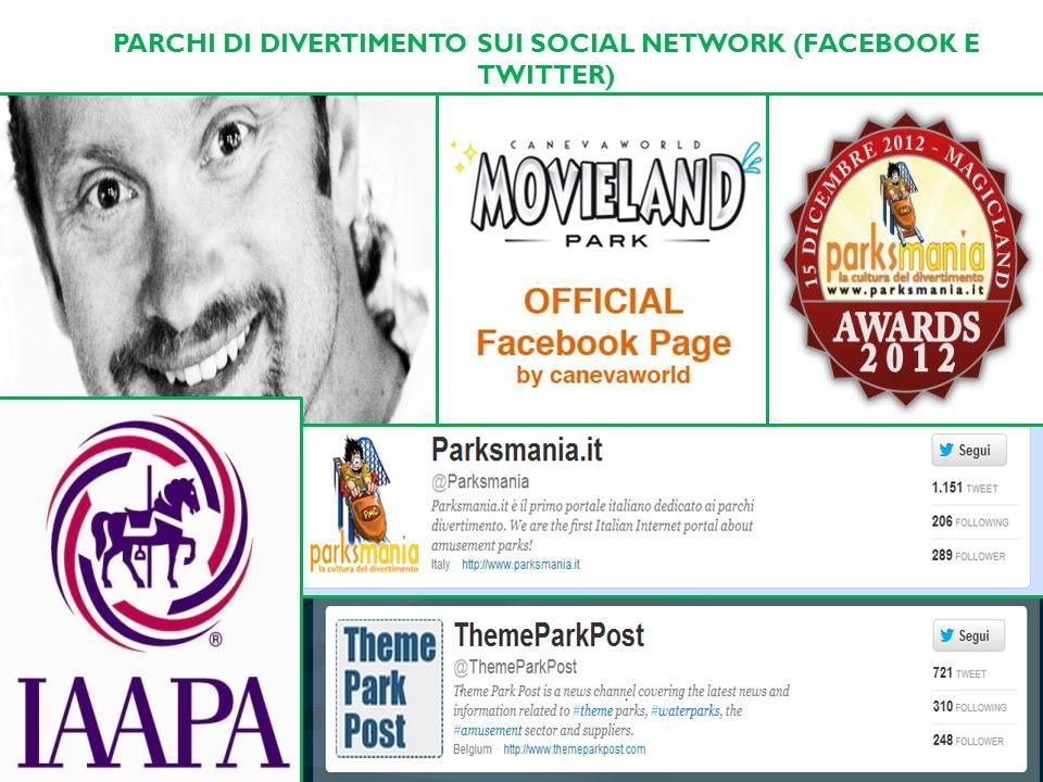 PARCHI DI DIVERTIMENTO SUI SOCIAL NETWORK (FACEBOOK E TWITTER)