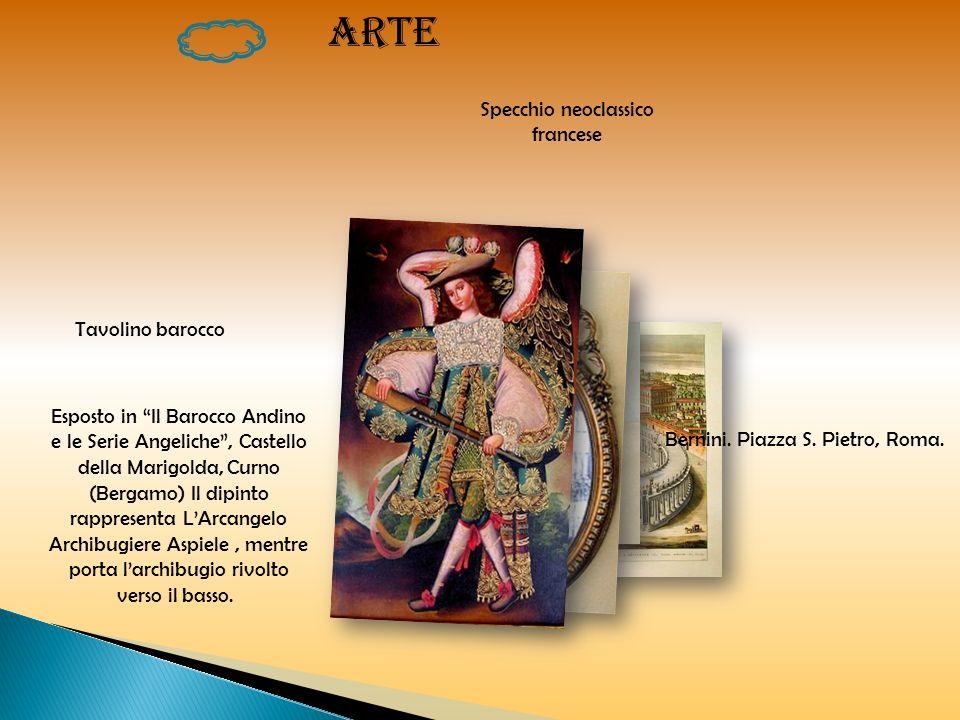 ARTE Tavolino barocco Specchio neoclassico francese Esposto in Il Barocco Andino e le Serie Angeliche, Castello della Marigolda, Curno (Bergamo) Il di