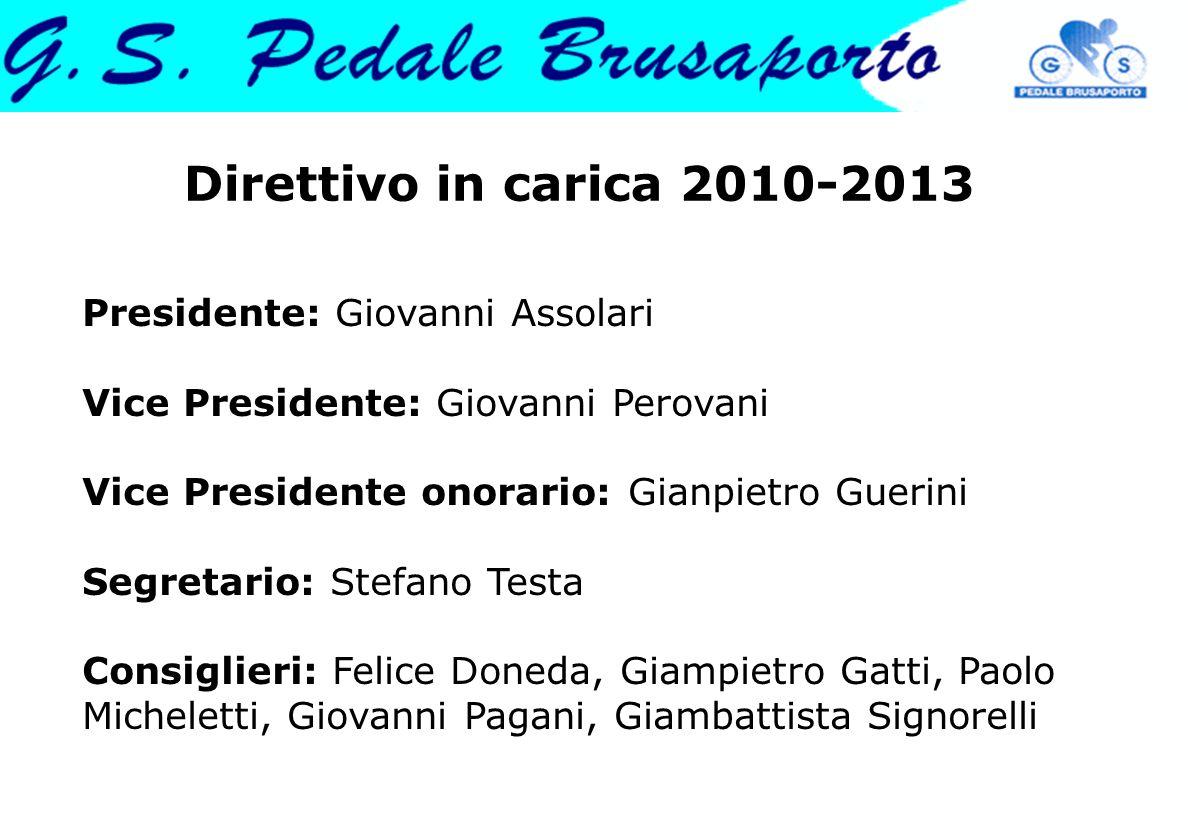 Direttivo in carica 2010-2013 Presidente: Giovanni Assolari Vice Presidente: Giovanni Perovani Vice Presidente onorario: Gianpietro Guerini Segretario