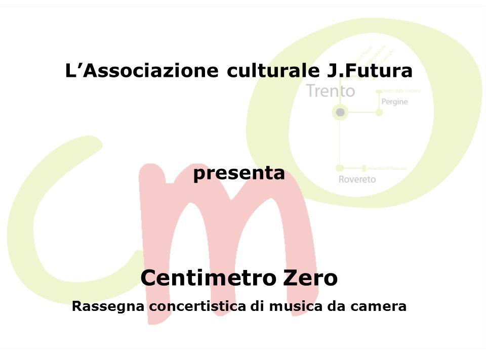 Centimetro Zero nasce nel 2011 con lobiettivo di approfondire le tematiche proposte nel corso della stagione sinfonica dellOrchestra J.Futura, denominata Kilometro Zero.