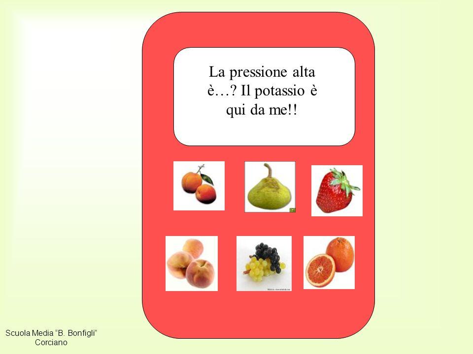 La pressione alta è… Il potassio è qui da me!! fragola Scuola Media B. Bonfigli Corciano