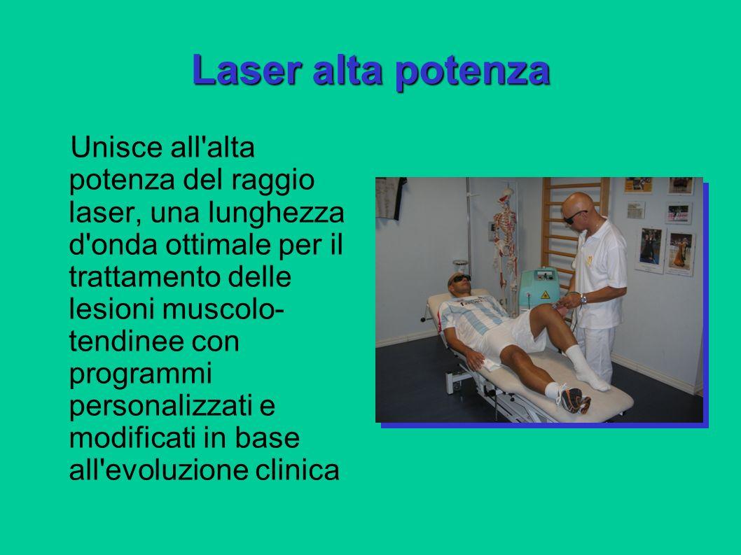 Laser alta potenza Unisce all'alta potenza del raggio laser, una lunghezza d'onda ottimale per il trattamento delle lesioni muscolo- tendinee con prog