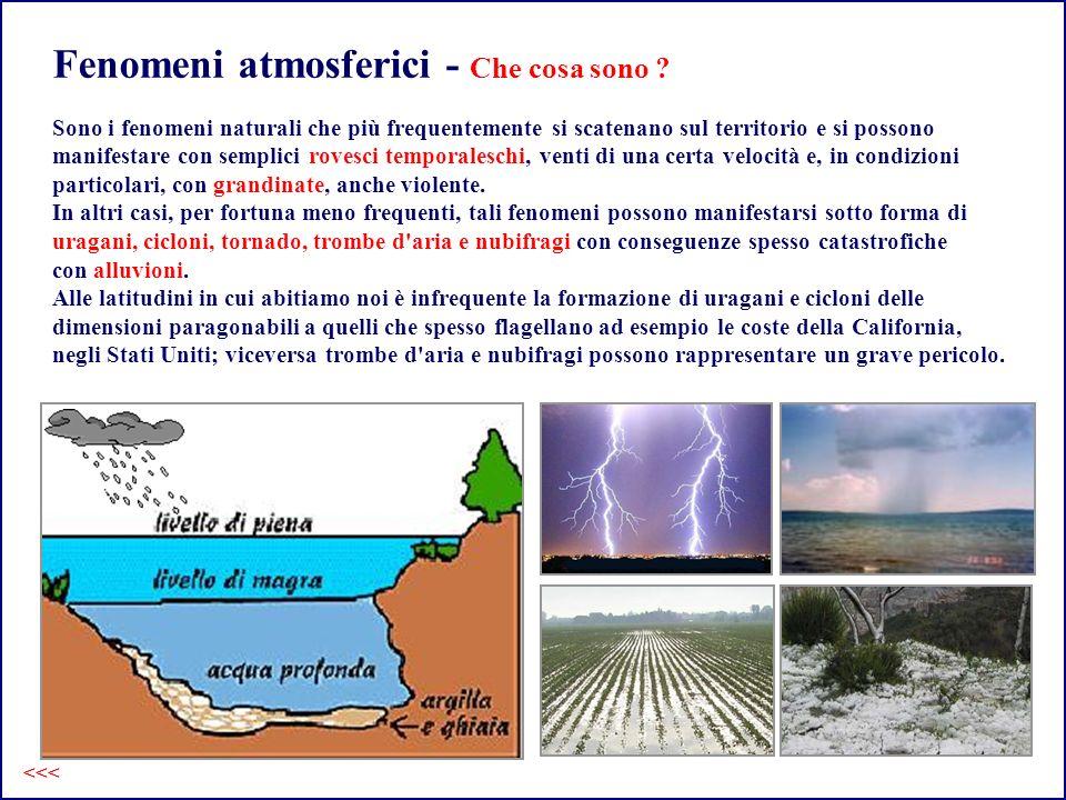Fenomeni atmosferici - Che cosa fare .
