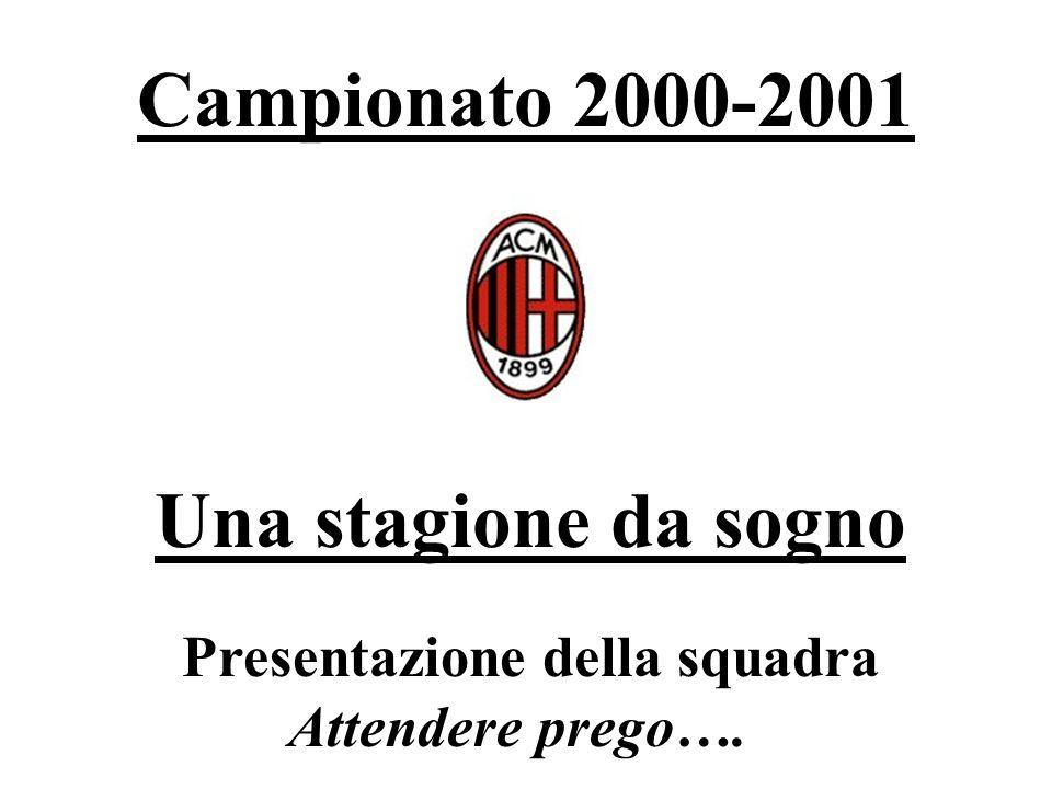 Campionato 2000-2001 Una stagione da sogno Presentazione della squadra Attendere prego….