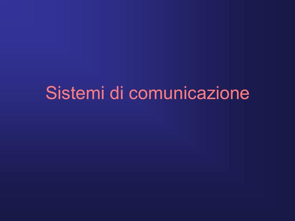 Introduzione Con il sistema di comunicazione si intende lo scambio di informazioni a distanza tra due o più sistemi di diversa natura.