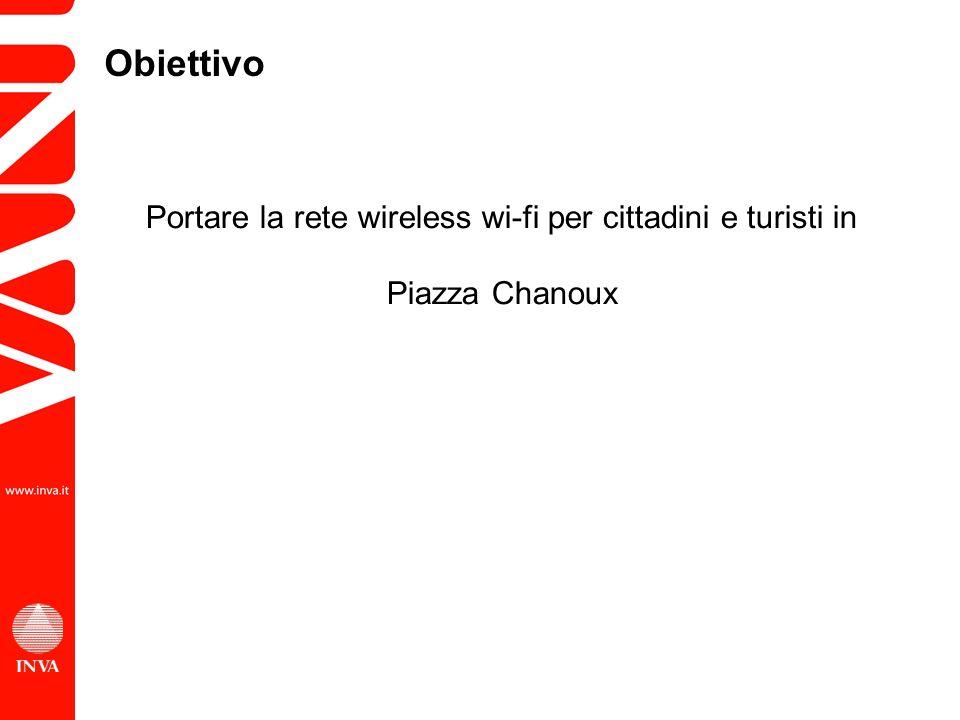Portare la rete wireless wi-fi per cittadini e turisti in Piazza Chanoux Obiettivo