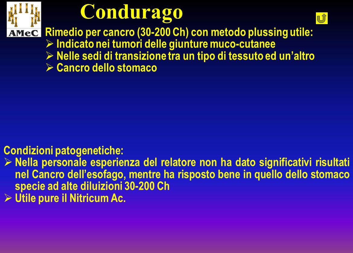 Rimedio per cancro (30-200 Ch) con metodo plussing utile: Indicato nei tumori delle giunture muco-cutanee Nelle sedi di transizione tra un tipo di tes