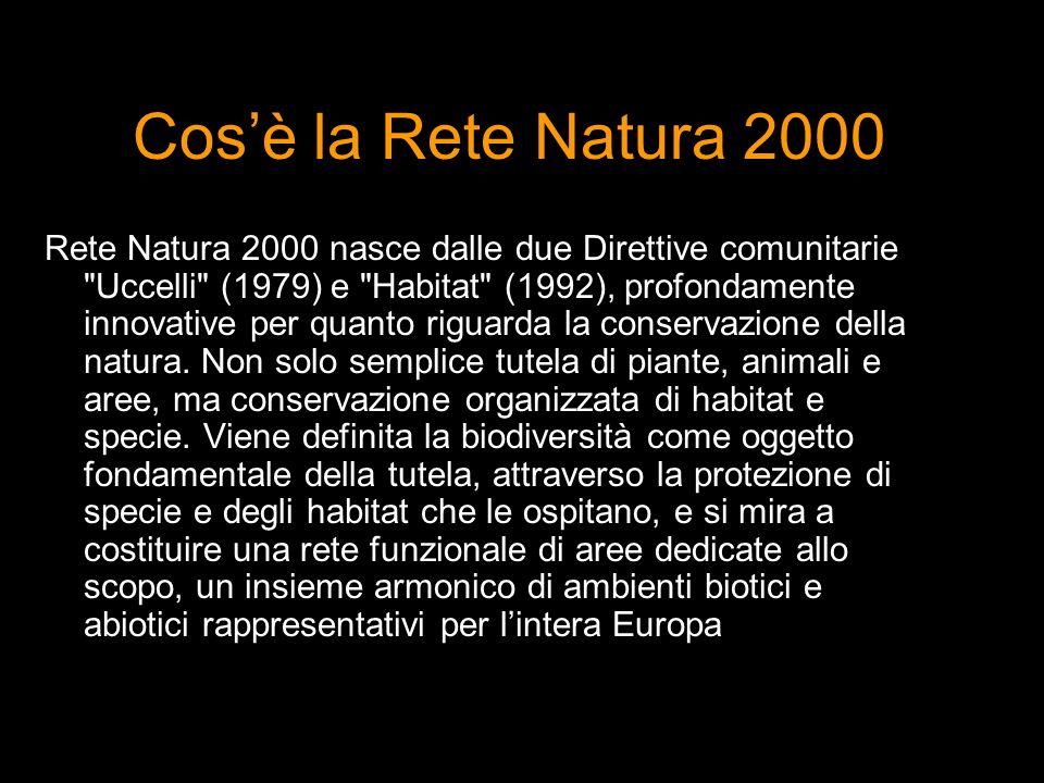 Cosè la Rete Natura 2000 Rete Natura 2000 nasce dalle due Direttive comunitarie