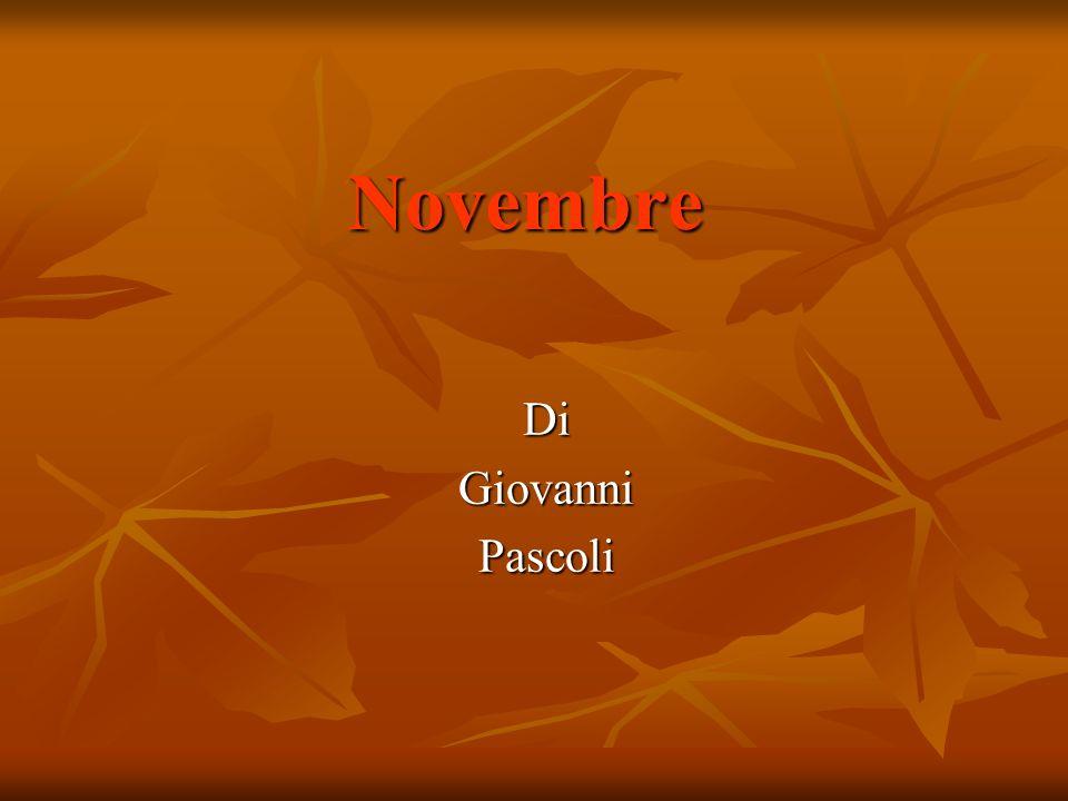 Novembre DiGiovanniPascoli