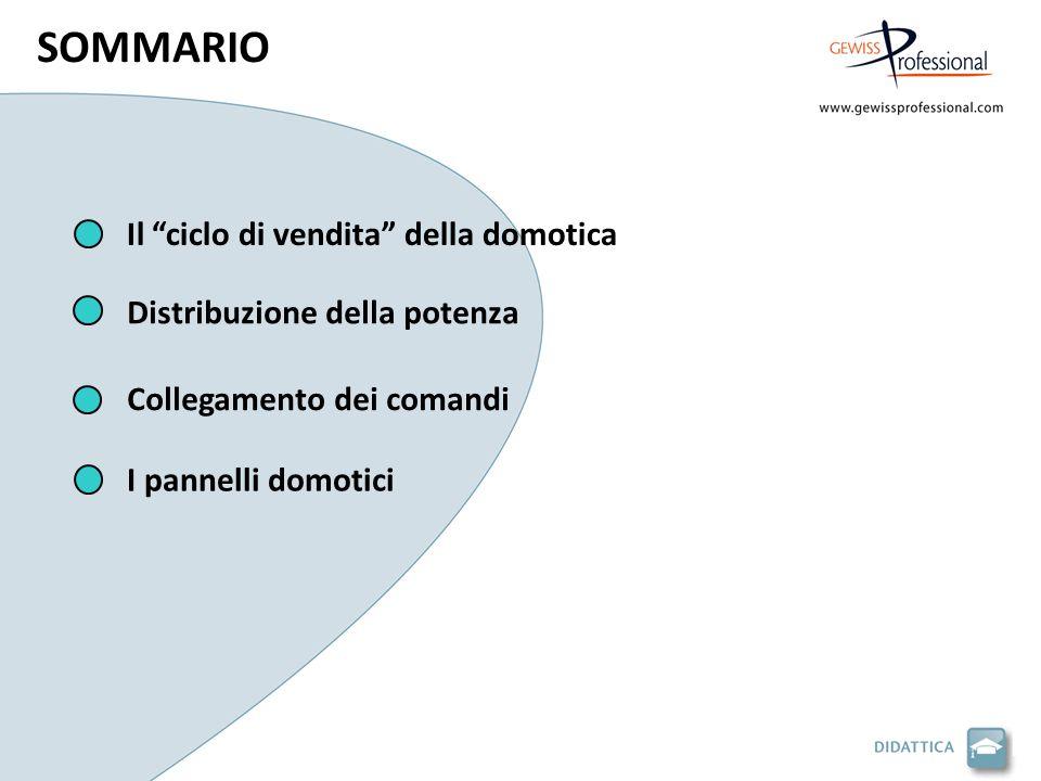 Il ciclo di vendita della domotica Collegamento dei comandi Distribuzione della potenza I pannelli domotici SOMMARIO