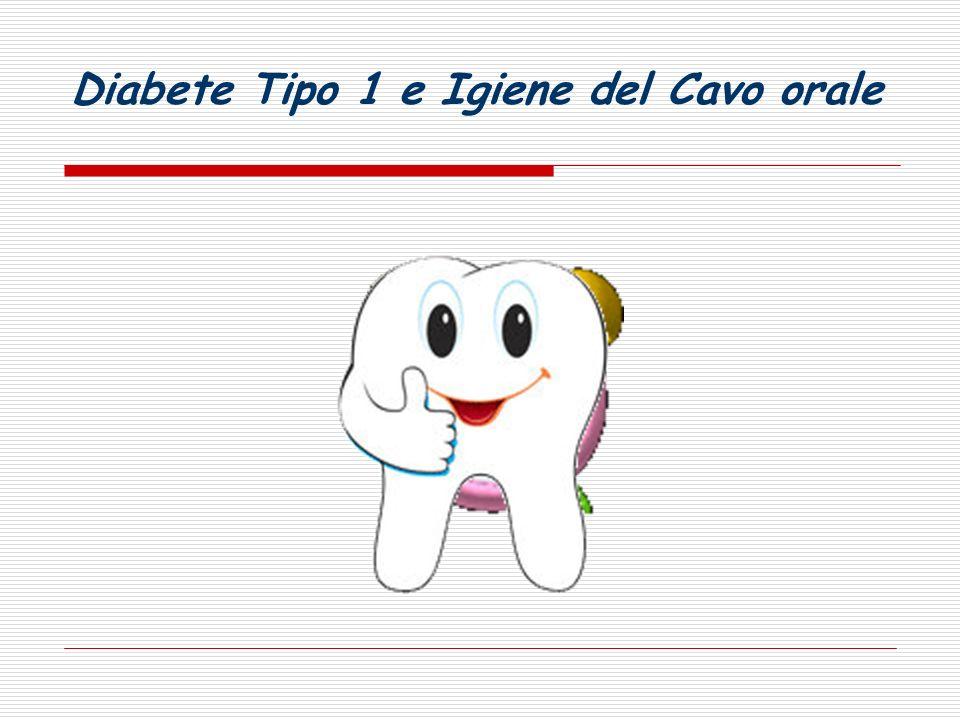 I denti dei soggetti affetti da diabete si cariano più facilmente di quelli dei soggetti non diabetici.