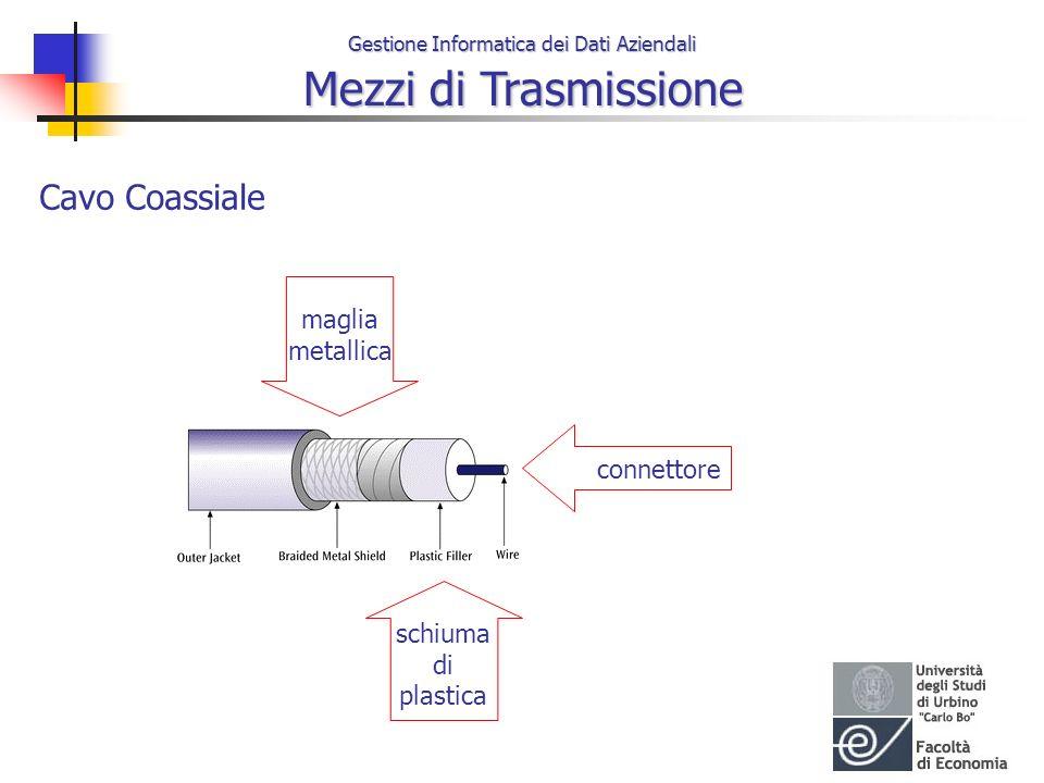 Gestione Informatica dei Dati Aziendali Mezzi di Trasmissione Cavo Coassiale connettore schiuma di plastica maglia metallica