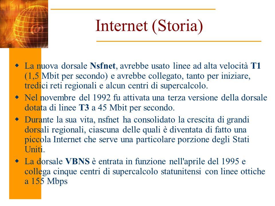 La nuova dorsale Nsfnet, avrebbe usato linee ad alta velocità T1 (1,5 Mbit per secondo) e avrebbe collegato, tanto per iniziare, tredici reti regional