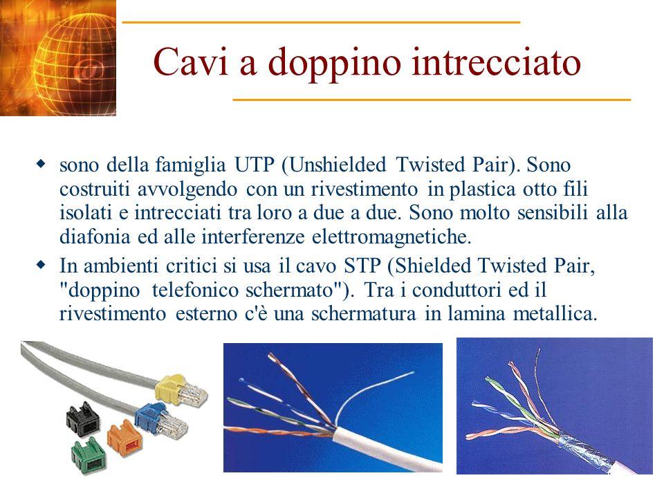 Topologia a bus Tutti i nodi sono collegati a una linea di trasmissione principale, detta appunto bus, che può essere realizzata con cavo coassiale o con fibre ottiche.