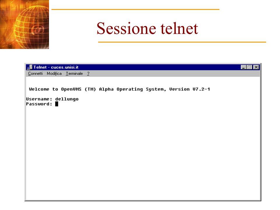 Sessione telnet