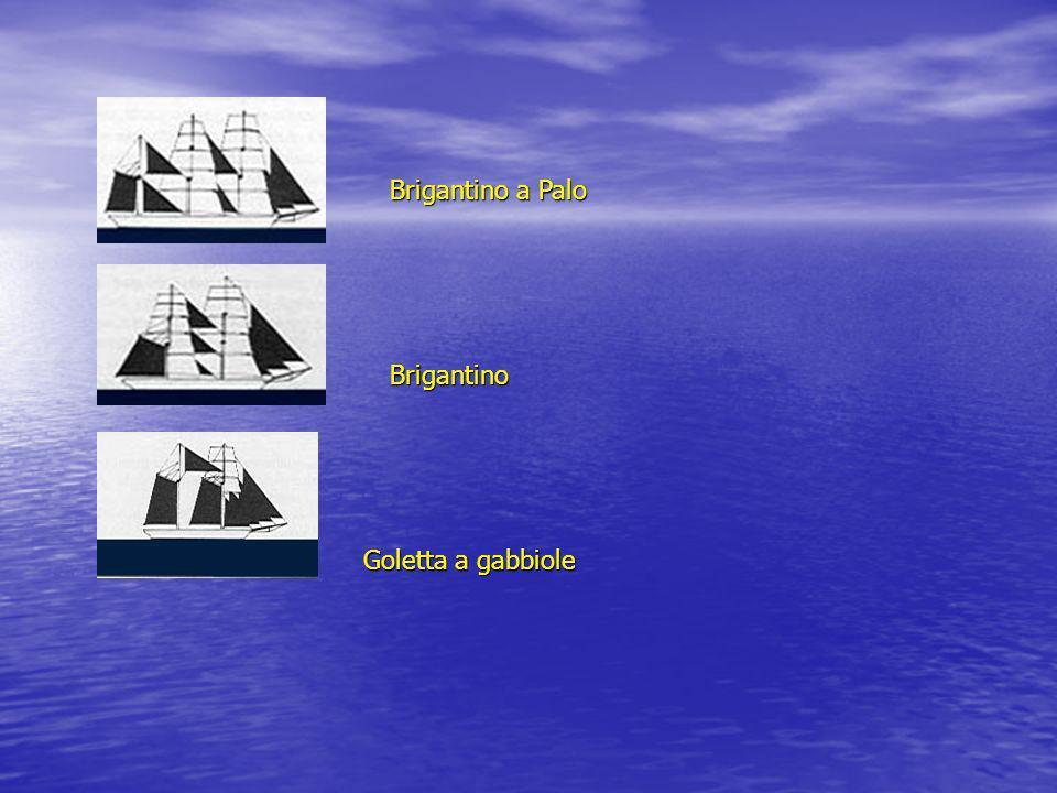 Goletta a gabbiole Brigantino Brigantino a Palo