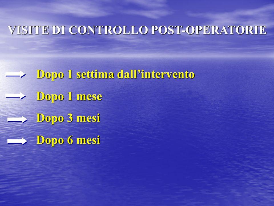 Controllo post-operatorio