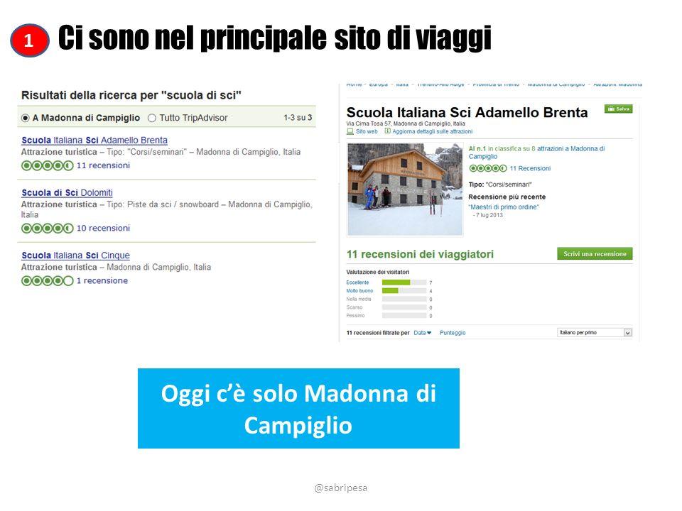 @sabripesa Ci sono nel principale sito di viaggi Oggi cè solo Madonna di Campiglio 1