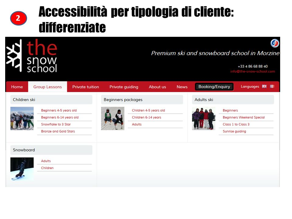 Accessibilità per tipologia di cliente: differenziate 2