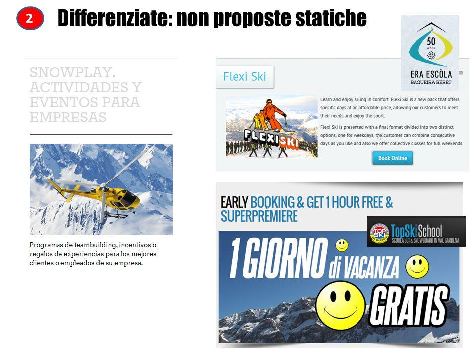 Differenziate: non proposte statiche 2