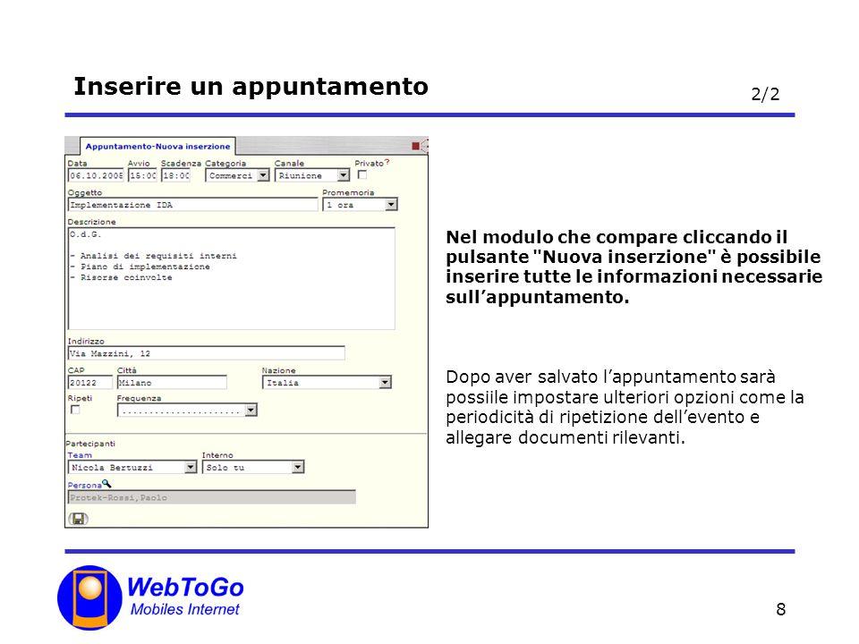 19 Inserire una attività Il project management si basa fondamentalmente sulla tracciabilità delle attività.