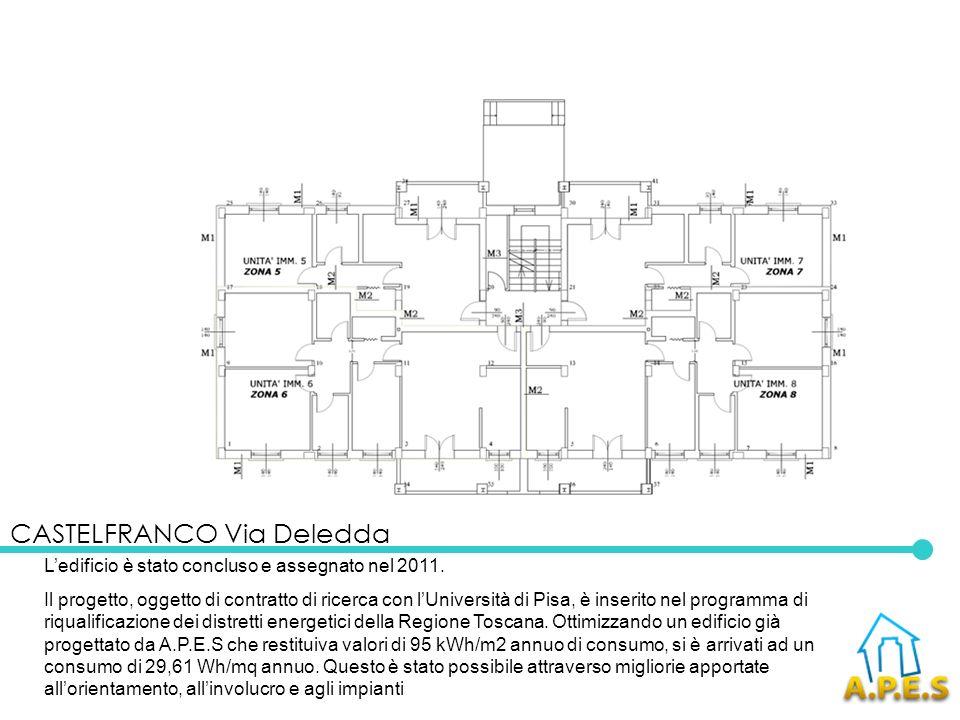 Ledificio è stato concluso e assegnato nel 2011. Il progetto, oggetto di contratto di ricerca con lUniversità di Pisa, è inserito nel programma di riq