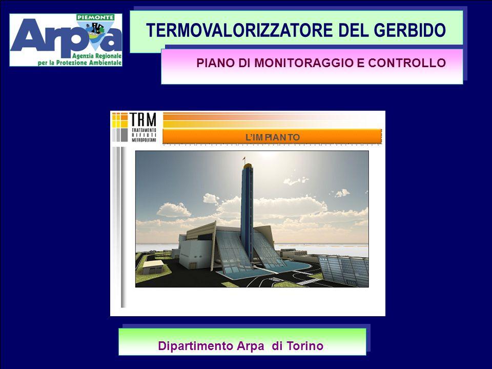 BEINASCO 30.03.20121 TERMOVALORIZZATORE DEL GERBIDO PIANO DI MONITORAGGIO E CONTROLLO Dipartimento Arpa di Torino