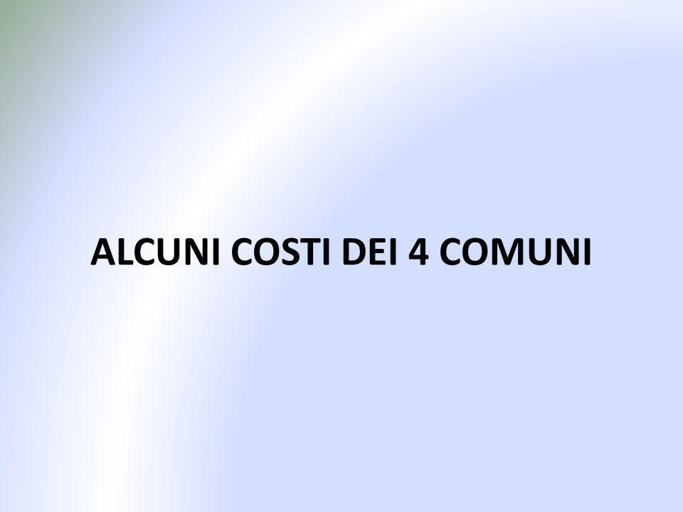 ALCUNI COSTI DEI 4 COMUNI