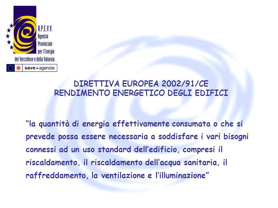 la quantità di energia effettivamente consumata o che si prevede possa essere necessaria a soddisfare i vari bisogni connessi ad un uso standard delle