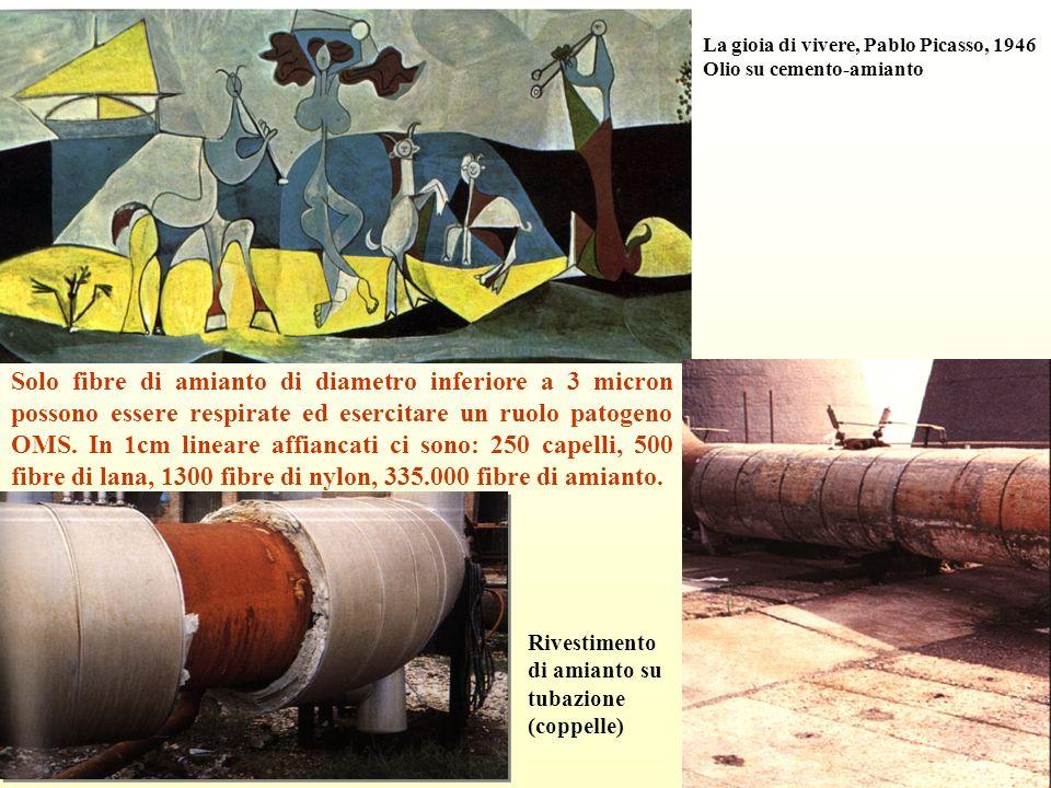 La gioia di vivere, Pablo Picasso, 1946 Olio su cemento-amianto Solo fibre di amianto di diametro inferiore a 3 micron possono essere respirate ed ese