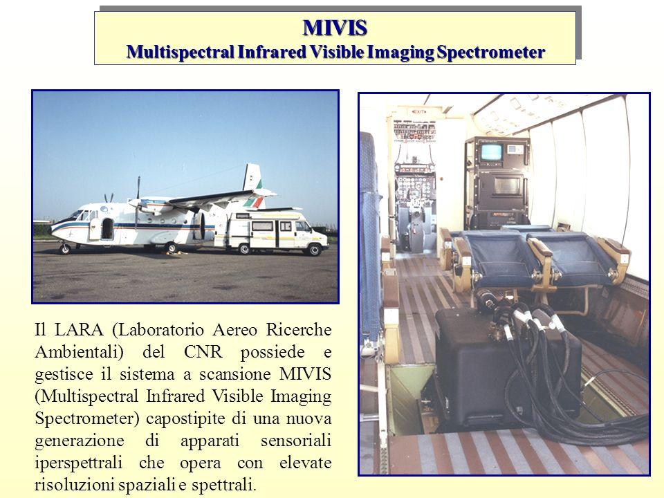 Il LARA (Laboratorio Aereo Ricerche Ambientali) del CNR possiede e gestisce il sistema a scansione MIVIS (Multispectral Infrared Visible Imaging Spect