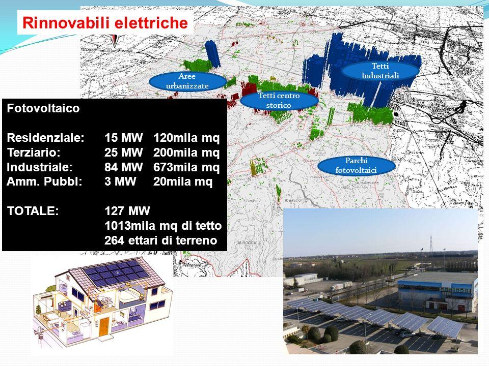 Consumo elettrico Residenziale: 18 milioni kWh Terziario: 30 milioni kWh Industriale: 101 milioni kWh Amm.