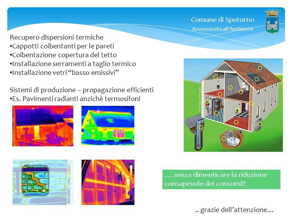 Comune di Spotorno Assessorato allAmbiente.. grazie dellattenzione… Accenno certificazione energetica : qui dico ad esempio che se edifico nuova casa