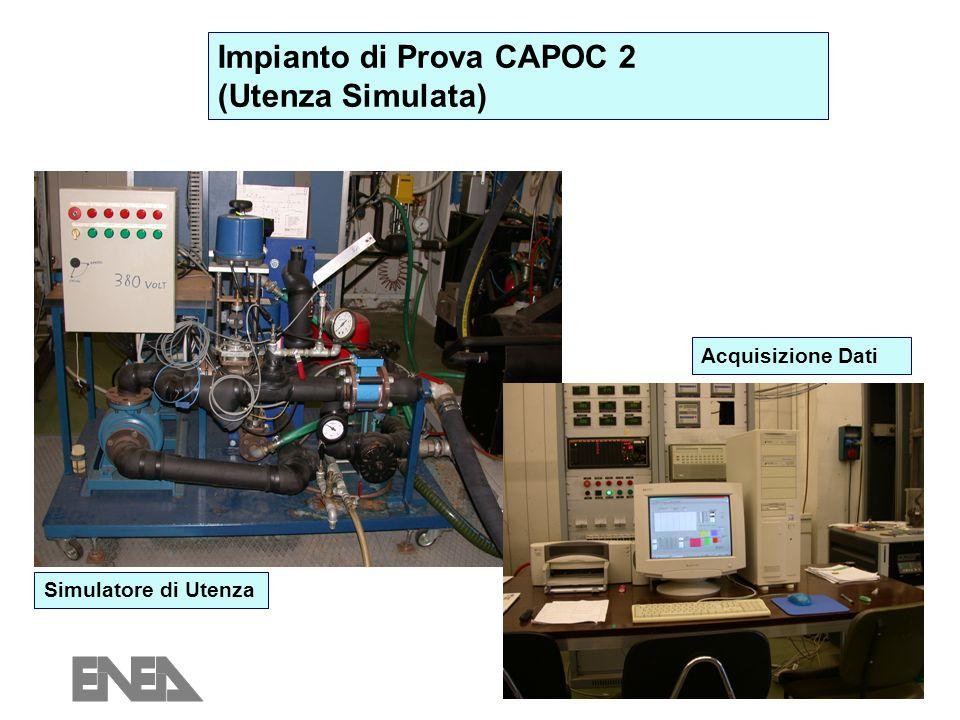 6 Impianto di Prova CAPOC 2 (Utenza Simulata) Simulatore di Utenza Acquisizione Dati