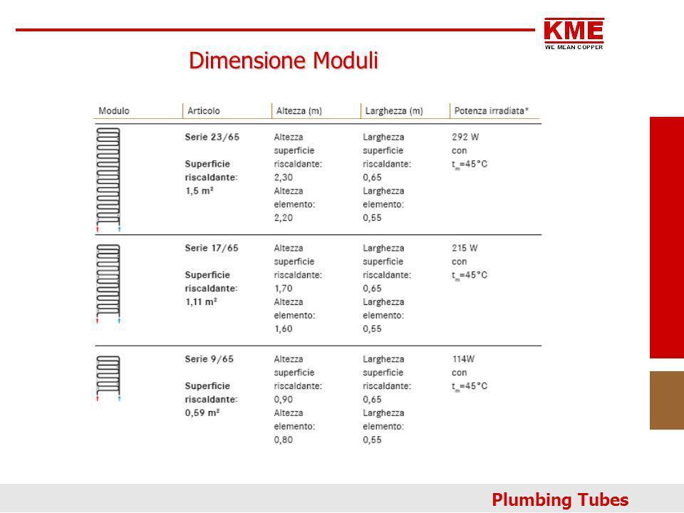 Plumbing Tubes Dimensione Moduli